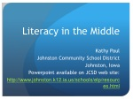 Literacy in the Middle