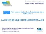 Catherine DIALLO, CHU Reims et URBH, union des responsables des blanchisseries hospitalières