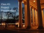 Class 41: Project Presentations