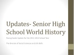 Updates- Senior High School World History