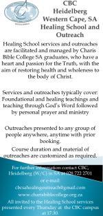 CBC Heidelberg Western Cape, SA Healing School and Outreach