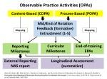 Observable Practice Activities (OPAs)