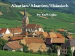 Alsatian/ Alsacien / Elsässisch