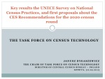 the Task Force  on  Census  Technology Janusz  dygaszewicz