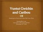 Vuntut Gwichin and Caribou