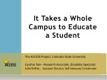 It Takes a Whole Campus to Educate a Student