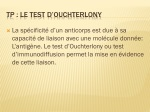 TP : Le test d' OUchterlony