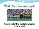 World Cup team crests quiz