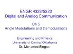 Ch  5 Angle Modulations and Demodulations