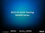 2012 EU ALSA Training M5A99 Series