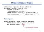 Unsafe Server Code