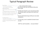 Typical Paragraph Review