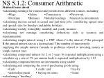 NS 5.1.2: Consumer Arithmetic