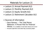 Materials for Lecture 21