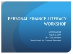 PERSONAL FINANCE LITERACY WORKSHOP