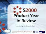 Product Year  in Review