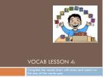 Vocab lesson 4: