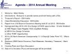 Agenda – 2014 Annual Meeting