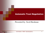 Automatic Trust Negotiation