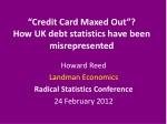 """""""Credit Card Maxed Out""""? How UK debt statistics have been misrepresented"""