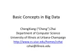 Basic Concepts in  Big Data