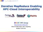 Iterative MapReduce E nabling HPC-Cloud Interoperability