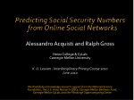 Predicting Social Security Numbers  from Online Social Networks