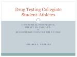 Drug Testing Collegiate Student-Athletes
