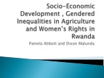 Socio-Economic Development , Gendered Inequalities in Agriculture and Women's Rights in Rwanda