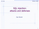 SQL injection: attacks and defenses
