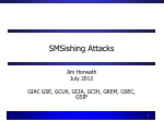 SMSishing Attacks