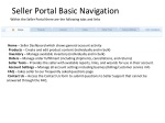 Seller Portal Basic Navigation