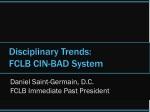 Disciplinary Trends: FCLB CIN-BAD System