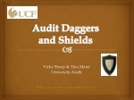 Audit Daggers and Shields