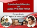 Navigating Special Education  and  Section 504 in Public Schools
