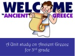 A Unit study on Ancient Greece for 3 rd grade