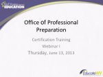 Office of Professional Preparation