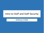 Intro to VoIP and VoIP Security