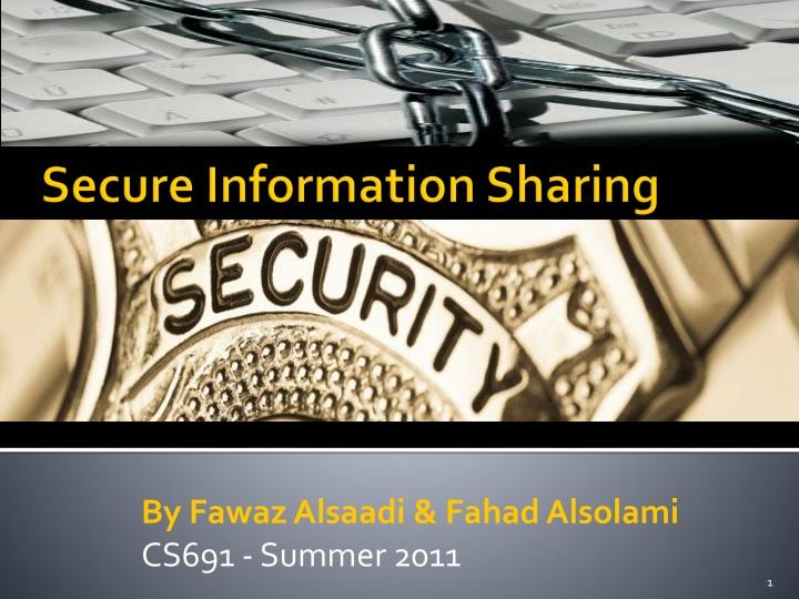 secure information sharing n.