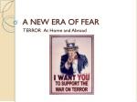 A NEW ERA OF FEAR