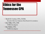 Ethics for the Tennessee CPA