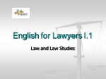 English for Lawyers I.1