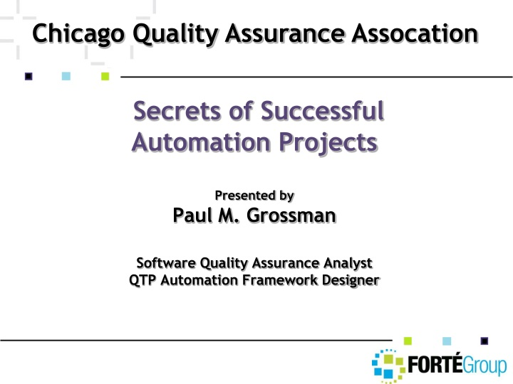 chicago quality assurance assocation n.
