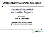 Chicago Quality Assurance Assocation