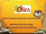Ohio Student Education Association Membership Can Help  You Succeed and Save Money