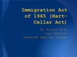 Immigration Act of 1965 (Hart-Cellar Act)