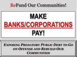Re Fund Our Communities !