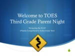 Welcome to TOES Third Grade Parent Night