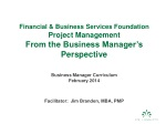 Financial & Business Services Foundation Project Management