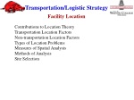Contributions to Location Theory Transportation Location Factors